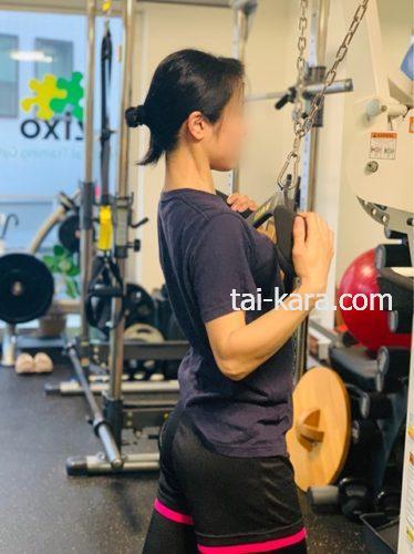 背中引き締めトレーニング